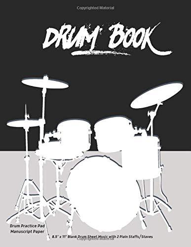 Drum Book Drum Practice Pad Manuscript Paper 8.5