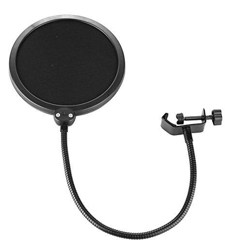 LMTECH Wind- und Pop-Filter Studio-Mikrofon Mic Wind-Schirm-Knall-Filtermaske Schild für die Aufnahme Sprechen (schwarz1)