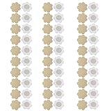 NEPAK 30 paia di copri capezzoli in tessuto non tessuto adesivo, non mostrano il seno, a forma di fiore, adesivi e monouso-per Abiti scollati e Costumi da Bagno Color Nude