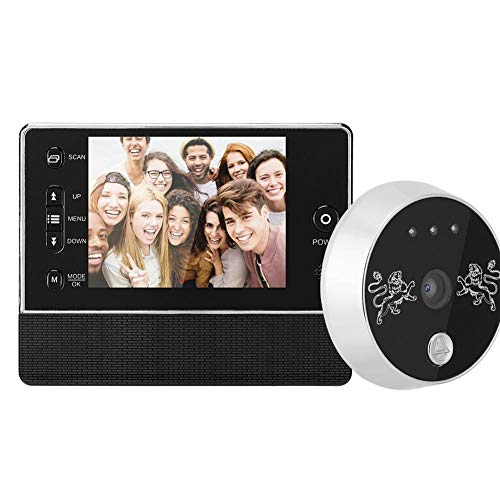 Timbre de Video inalámbrico, Campana de Puerta de Mirilla de intercomunicación infrarroja de visión Nocturna con Pantalla TFT LCD de 3.5 Pulgadas para Seguridad en el hogar fácil de Instalar