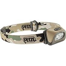 Petzl TACTIKKA + RGB–Taschenlampe (Taschenlampe mit Band für Kopf, Camouflage, IPX4, 160lm, AAA, Ni-MH (NiMH))