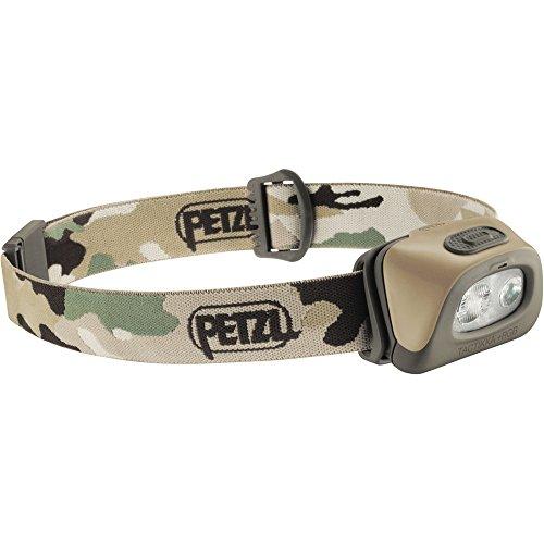 Kopf Petzl Taschenlampe (Petzl TACTIKKA + RGB–Taschenlampe (Taschenlampe mit Band für Kopf, Camouflage, IPX4, 160lm, AAA, Ni-MH (NiMH)))