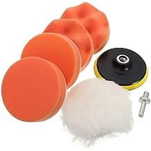 Kit Pulido de Esponja Pulidora del coche de Pintura Limpio,GZQES,Bruto Pulido Kit con Adaptador de Taladro para Coche,Accesorios para Lijado y Pulido (3 inch)