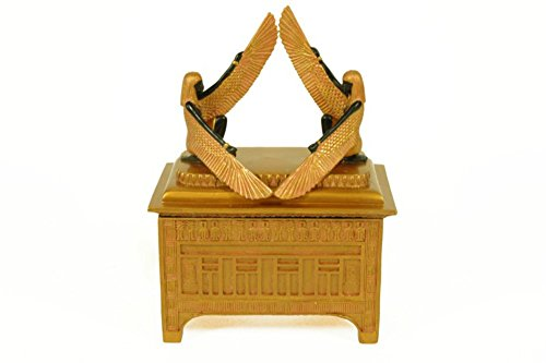 Egyptian Resin Decorative Square Jewelry Box 'Ark of the Alliance'. Multipurpose boxes. Jewelers. Gifts and accessories. Resin figures. 12 x 7 x 16 cm.