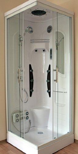 AcquaVapore DTP08B-1000 Dusche Duschtempel Komplett Duschkabine 90x90