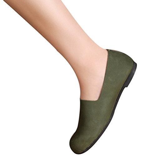 Vogstyle Donna Scarpe Comfort Pompe Basse Stile-3 Verde Scuro