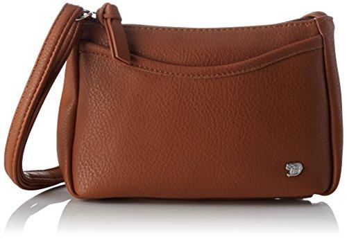 TOM TAILOR Denim Damen Cilia Schultertasche, Braun (Cognac), 4x14x21 cm (Schulter-handtasche Kleine)