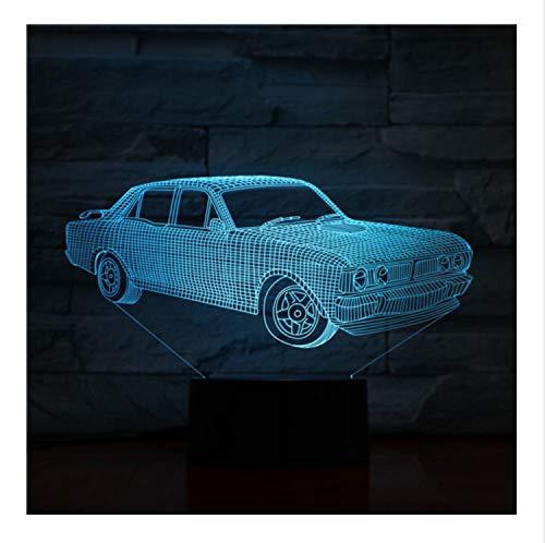 Lámpara De Cambio De Colores 3D Visualización Increíble Acrílico Ilusión Óptica Con...
