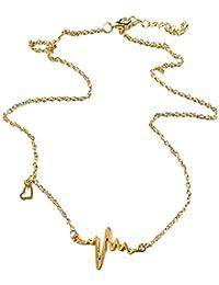 3b89107ce556 joyliveCY Lindo Collar de Cadena de clavícula Colgante de Latido del corazón  Collar de electrocardiograma Popular