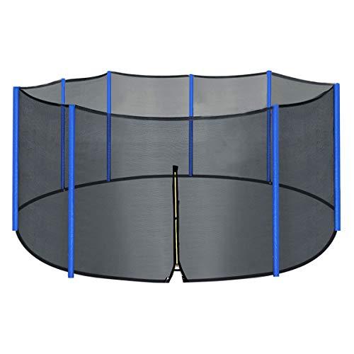 Zupapa Filet de Trampoline boîtier de Remplacement 2,4 m Pieds en Filet Noir Universel de Protection Sécurité pour 6 pôles, Noir
