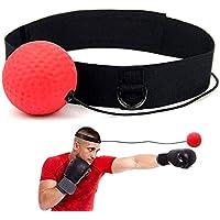 wqeew Pelota de Entrenamiento de Boxeo, React Reflex Ball Kidte Training Boxeo montado en la Cabeza Fuerza de reacción de Aumento portátil
