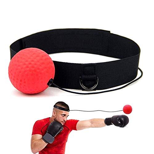 Lanceasy Boxe Lotta Palla Reflex, Pugilato Punch Attrezzature per La Boxe, Formazione Head-Mounted Boxing Raising Portatile Forza di Reazione
