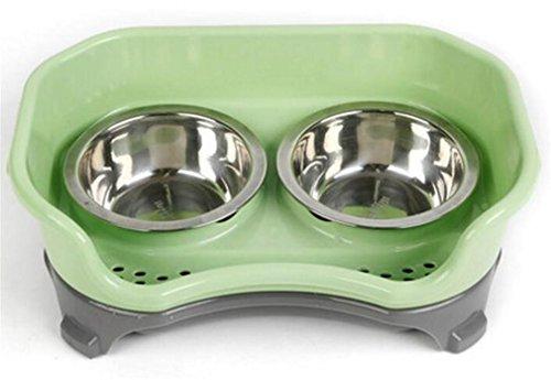 nwyjr-militants-de-pet-food-bowl-durable-sans-glissement-vert-en-plastique-durables-empecher-sale-in