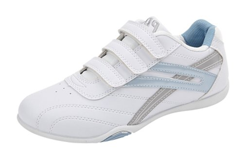 Ladies 'RAVEN' 3 touch Fastening Trainers UK White/Light Blue size 3 UK