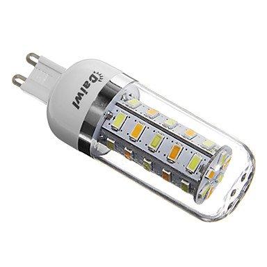 GXS/daiwl G95W 36x SMD 5730350LM 4100–4600K natürliches weißes Licht LED Corn Leuchtmittel silber Cover (AC 220–240) (4600 Cover)