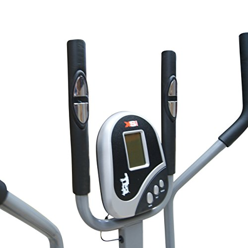 41hMS4aZ9TL. SS500  - Pro XS Sports 2-in1 Elliptical Cross Trainer Exercise Bike-Fitness Cardio Weightloss Workout Machine-With Seat + Pulse Heart Rate Sensors