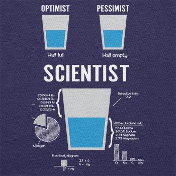NERDO Optimist Pessimist Scientist - Herren T-Shirt Navy
