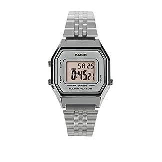 Casio Reloj Digital para Mujer con Correa de Acero Inoxidable – LA680WA