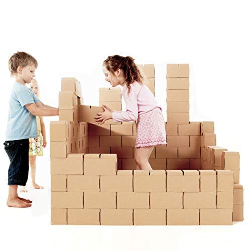 Riesige Bausteine - kreatives Spielzeug, 100 XXL Bausteine. Wunderschönes Geschenk für ein Mädchen und einen Jungen, spiele endlose Szenarien aus