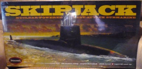 USS Skipjack Submarine 1/72 Moebius Over 40 inches Long by Moebius Models