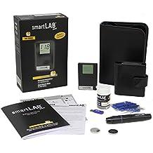 smartLAB mini (mmol/L) Sistema de monitoreo de glucosa en sangre como juego de arranque   Sistema de control de glucosa en la sangre en formato de tarjeta de crédito ideal para viajar   Monitoreo de la glucemia para diabéticos con smartLAB
