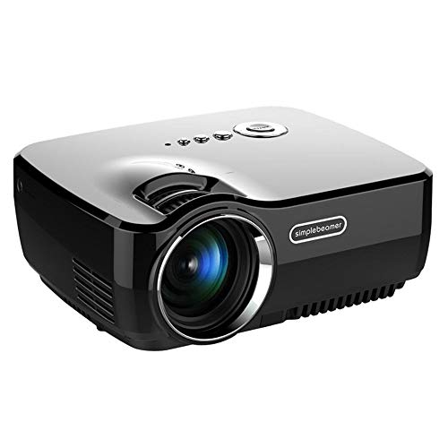Video Out Vga Karte (VIVIBRIGHT GP70 Portable Beamer unterstützt 1080P Full HD, Video Beamer kompatibel mit TV-Sticks, PS4 Xbox, Wii, HDMI, VGA, AV- und USB-Geräten, Heimkino-Beamer)