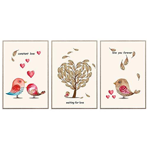 Nordic Simple Love Bird Decoración Pintura Dormitorio Comedor Sala De Estar Colgante...
