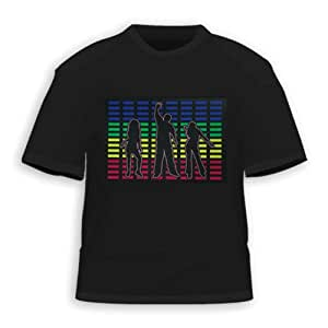 HDE Dance Party Equalizer Sound Activated LED T-Shirt (XXL)