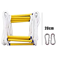 ZXXY Escape Rope Ladder, Fire Training Self-Rescue Climbing Soft Rope Ladder Escape from Window and Balcony