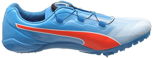 Puma Bolt Evospeed Disc, Chaussures de Running Compétition Mixte Adulte Multicolore (AtomicBleu/Red Blast)