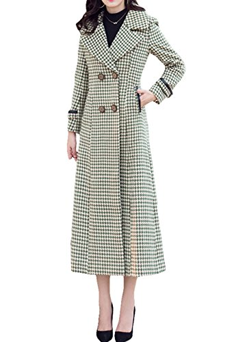 Herbst und Winter Coat Damen Kaschmir lang Trench Coat Wollmantel Gr. 12,  - Meter White-B models