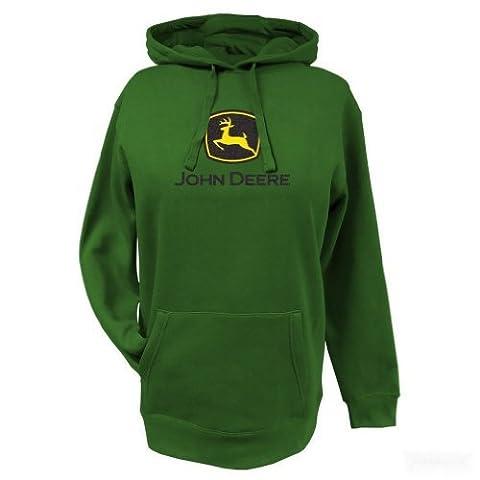 John Deere Ladies Glitter Logo Hooded Sweatshirt Green