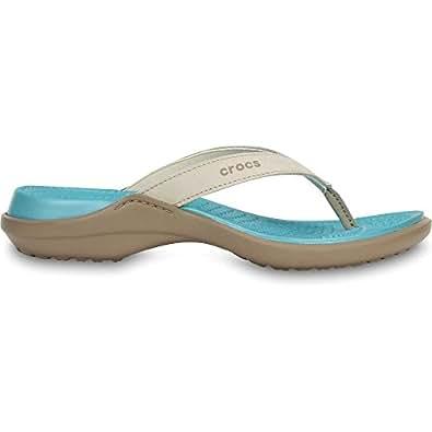 Crocs Womens/Ladies Capri IV Croslite Suede Nubuck Flip Flop Sandals