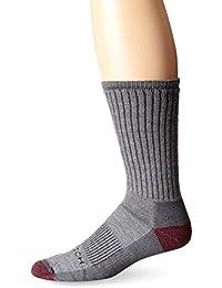 Woolrich Men's Ten Mile Hiker Crew Sock 2-Pack, Gray/Red Rock, Sock Size:10-13/Shoe Size: 6-12