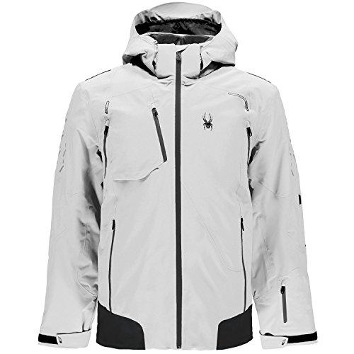 Spyder Mens Pinnacle Jacket Skijacke (wht/wce/blk), M