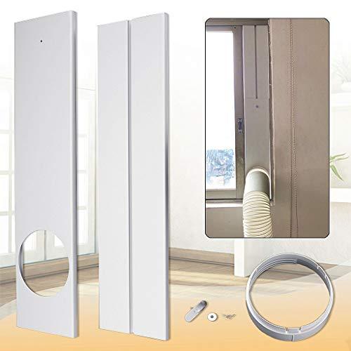 Sixcup 2 Stück Mobile Klimaanlage Einstellbare Fensterdichtplatte Fenster Kit für Klimaanlage 67-120 cm Kunststoff Ersatz Vent Kit Fenster Dichtungssatz (White) -