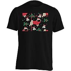 Perro pug Feliz Navidad Camiseta de los hombres u187m