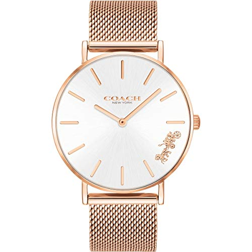 Coach Womens Perry Rose Gold Mesh Bracelet 14503126