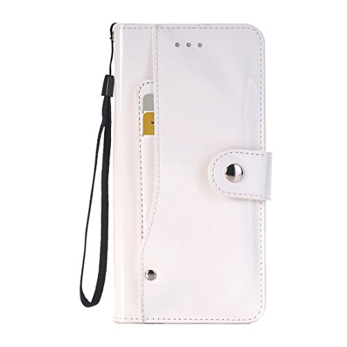 Hülle für iPhone 7 plus , Schutzhülle Für iPhone 7 Plus Horizontale Flip TPU + PU Ledertasche mit Halter & Card Slots & Wallet ,hülle für iPhone 7 plus , case for iphone 7 plus ( Color : White ) White