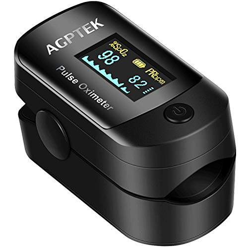 Oxímetro de Pulso de AGPTEK, Pulsioxímetro de Dedo y Monitor de Frecuencia...