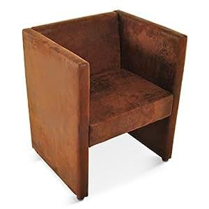 sam armlehnsessel sessel domino wildlederoptik stoff gobi braun microvelourbezug esszimmer. Black Bedroom Furniture Sets. Home Design Ideas
