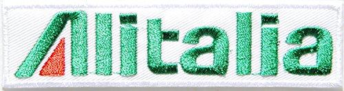 Alitalia Jet Flugzeug Aircraft Logo Kid Jacke T-Shirt Patch Sew Iron on gesticktes Aufnäher Badge Schild Custom Geschenk (Jeans Custom Jacke)