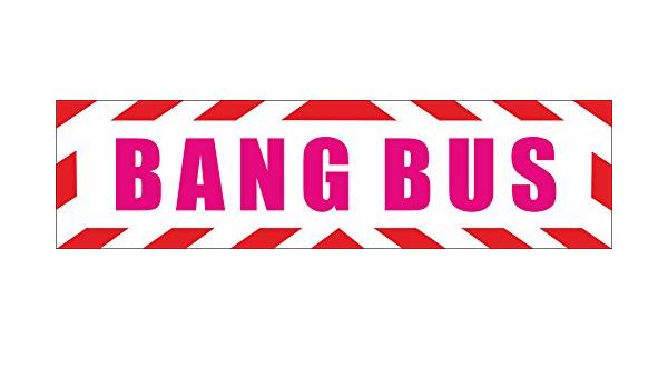 Indigos Ug Magnetschild Bang Bus Pussy Wagon Fuck Truck Junggesellenabschied Hochzeit Porno Erotik Mit Rahmen 45 X 12 Cm Reflektierend Magnetfolie Für Auto Lkw Truck Baustelle Firma Auto