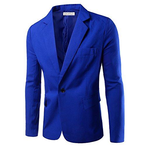 Cloud Style Haut de costume mince affaires décontraction sexy-couleur unique -un bouton-Homme bleu foncé