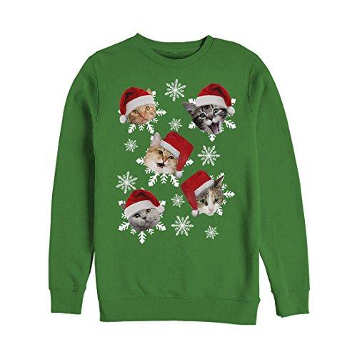 Women's Ugly Christmas Sweater Cat Snowflakes Sweatshirt