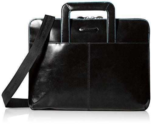 Portablocco Piquadro | Manici a scomparsa, Tasca iPad | Blue Square | PB2629B2-nero