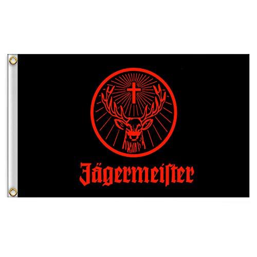 Hemore Jagermeister Fahne Riesenflagge schwarz Fliegenflagge Banner Größe 90 x 150 cm 1 Stück