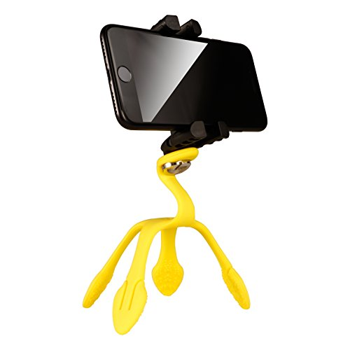 Gekkopod Smartphone Tripod Mount - Portable and Flexible Mount That can be Set, Wrapped, Hung and Clung Practically Anywhere - Compatible with All Smartphones (Yellow) 32044