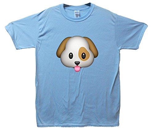 Puppy Emoji T-Shirt Hellblau