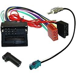 Aerzetix - Câble Adaptateur Faisceau autoradio et antenne antenne